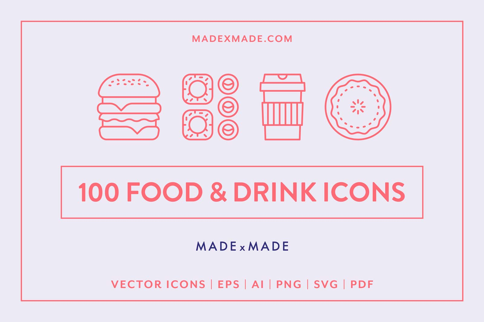 made x made icons food drink