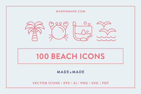 made x made icons beach cover