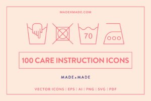 made x made icons care instructions