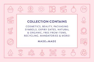 made x made icons cosmetic packaging
