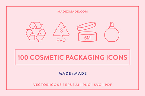 made x made icons cosmetic packaging cover