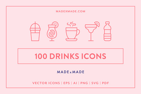 made x made icons drinks cover