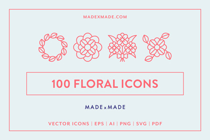 made x made icons floral cover