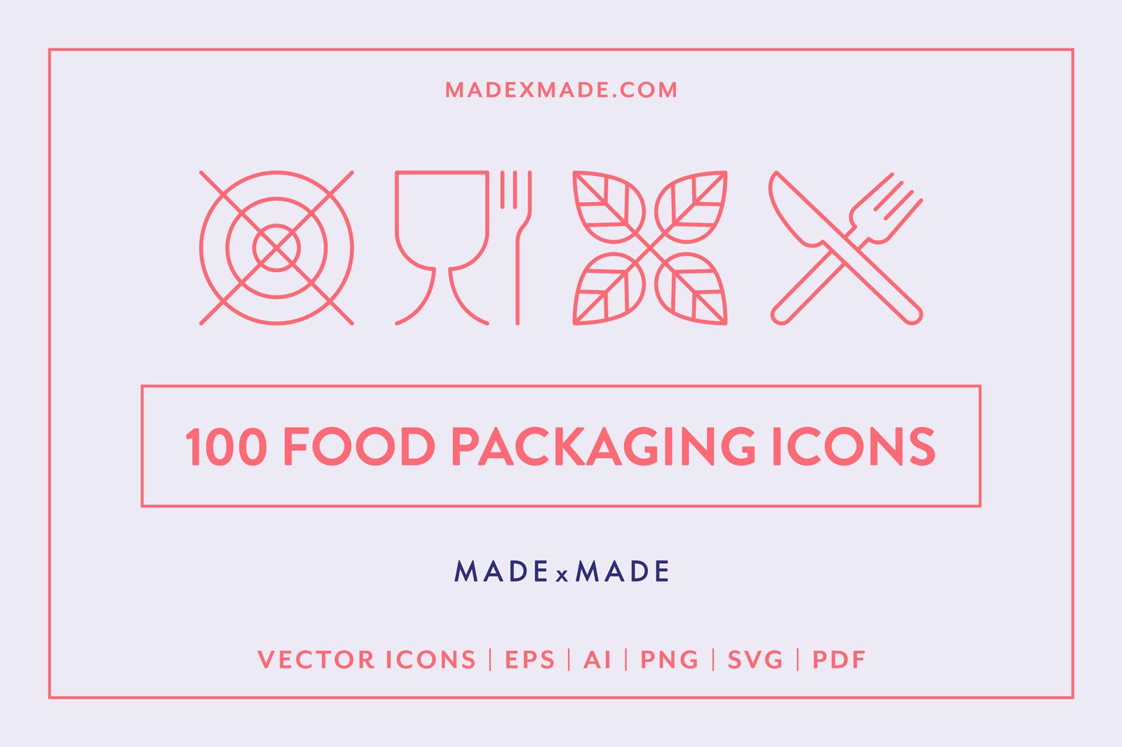 made x made icons food packaging