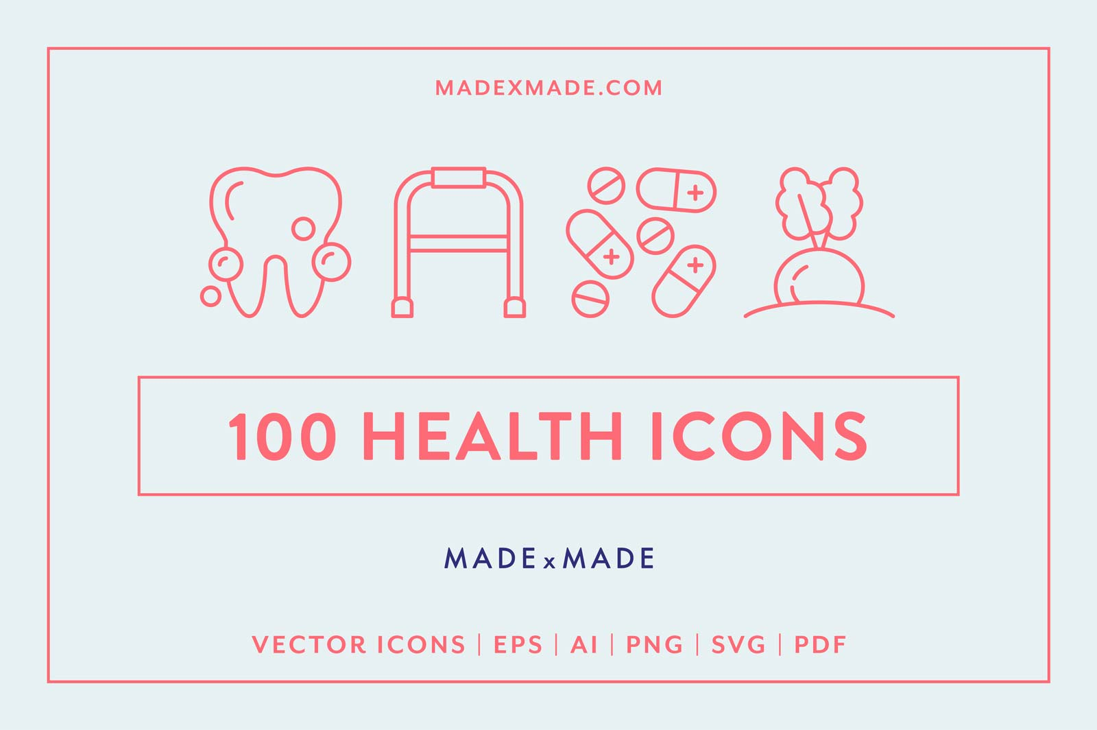 made x made icons health