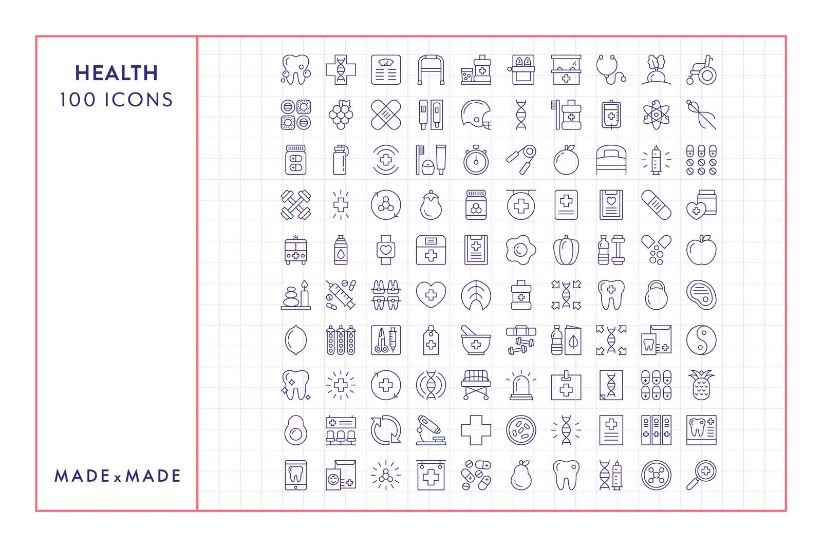 made x made icons health