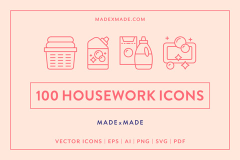 made x made icons housework cover