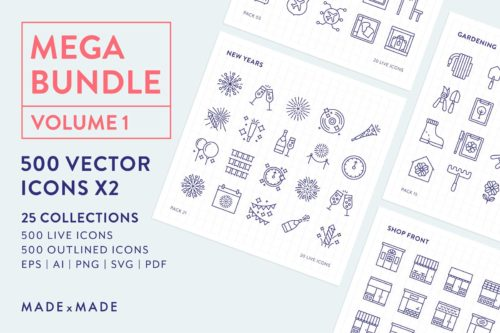 made x made icons mega bundle vol 1