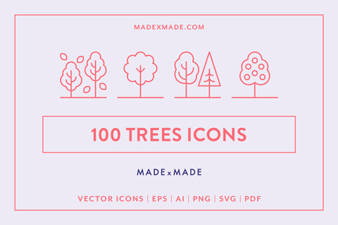 made x made icons trees cover