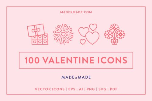 made x made icons valentines day
