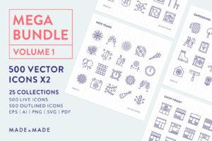 made x made icons 4x mega bundle