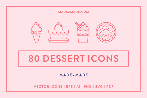 made x made icons dessert cover