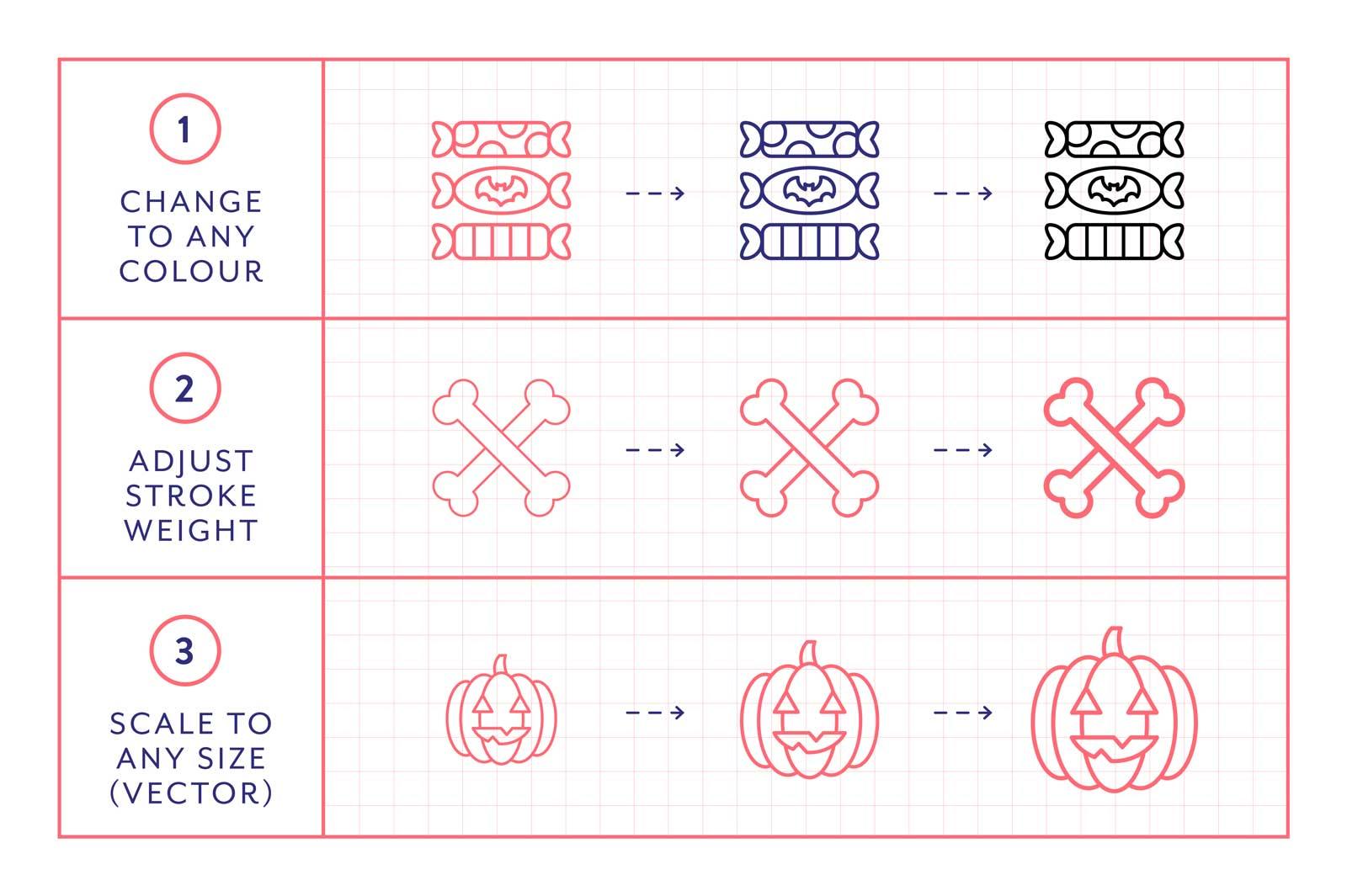 made x made icons halloween