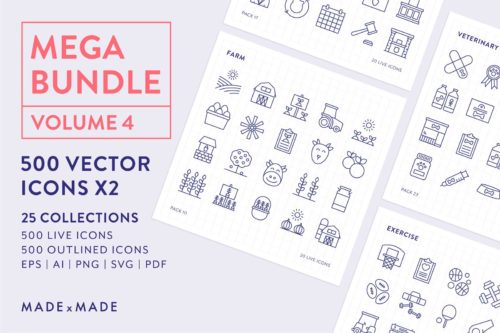 made x made icons mega bundle vol 4