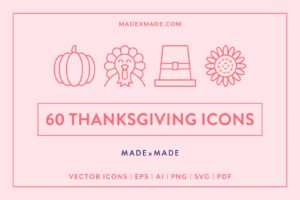made x made icons thanksgiving