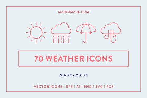 made x made icons weather cover