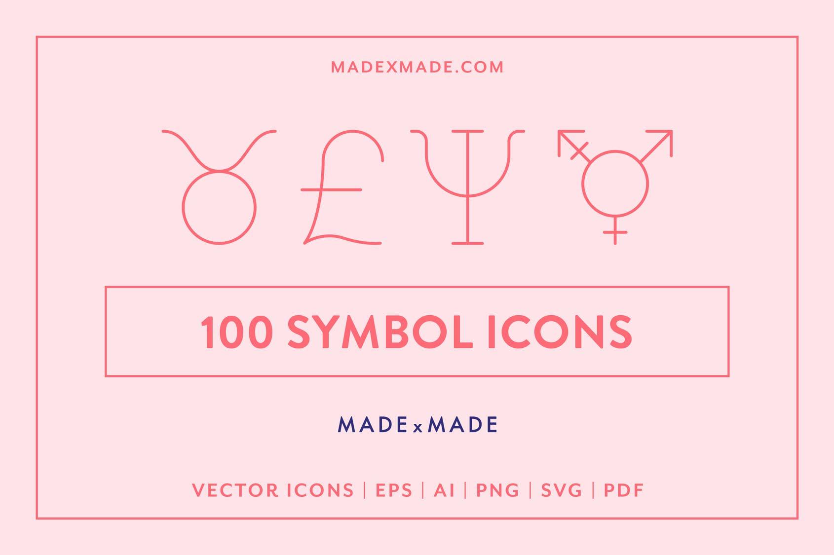 made x made icons symbols