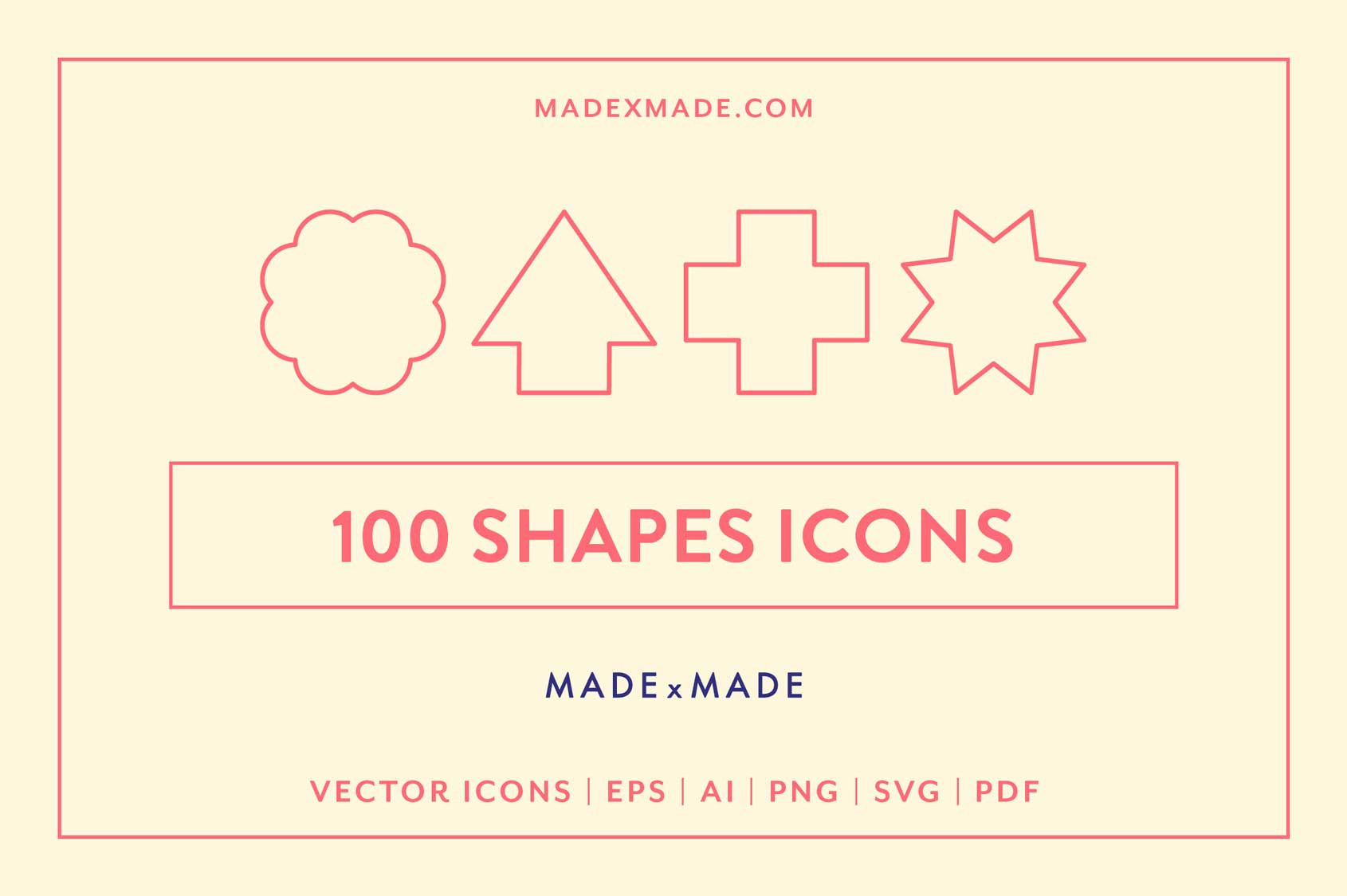 made x made icons shapes