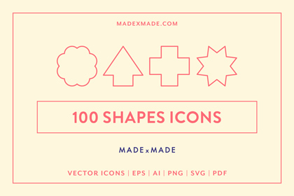 made x made icons shapes cover