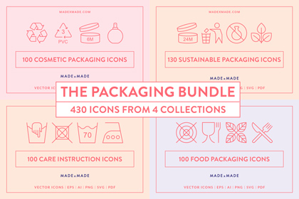 made x made icons packaging bundle cover